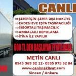 Sincan, Ankara evden eve nakliyat